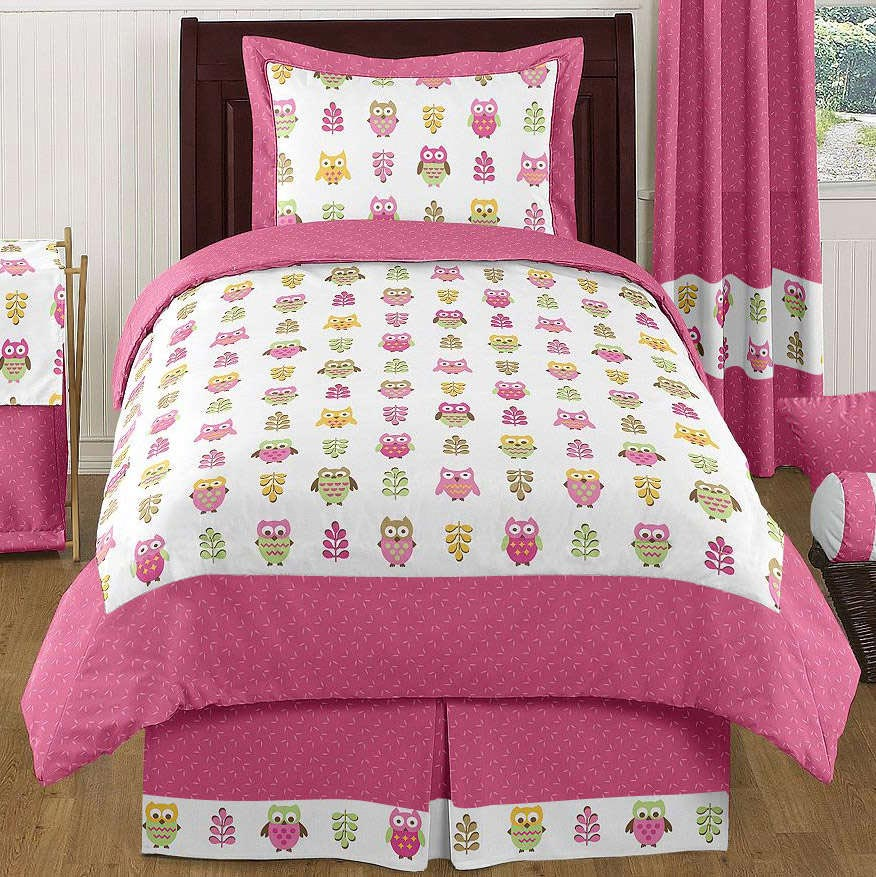 Image of: Twin Bed Owl Comforter Sets