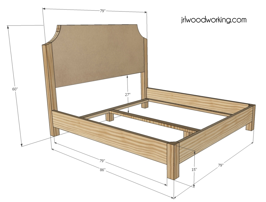 Image of: Twin Bunk King Size Bed Frame Dimensions