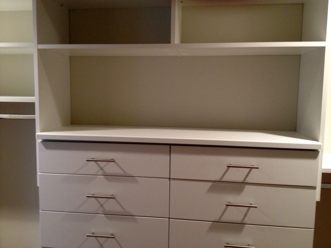 White Closet Storage Units