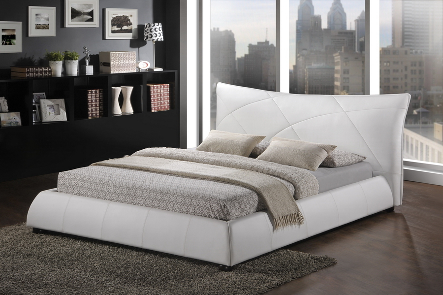 White King Size Platform Beds
