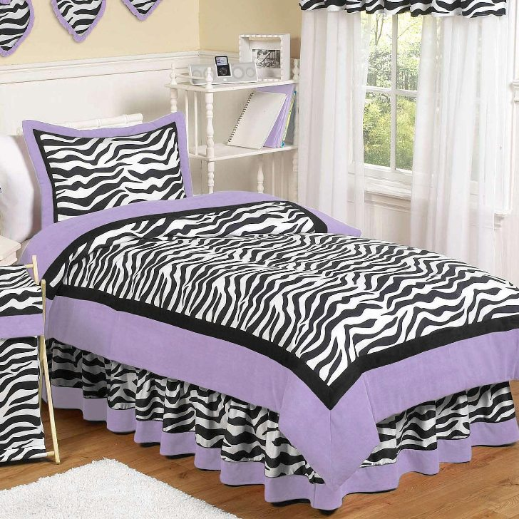 Zebra Print Teens Bedding