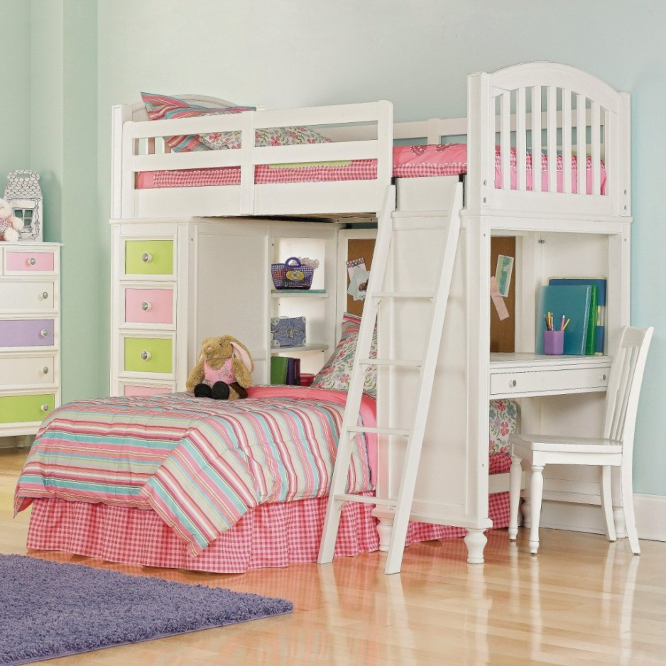 Image of: Amazing Kids Loft Beds With Desk