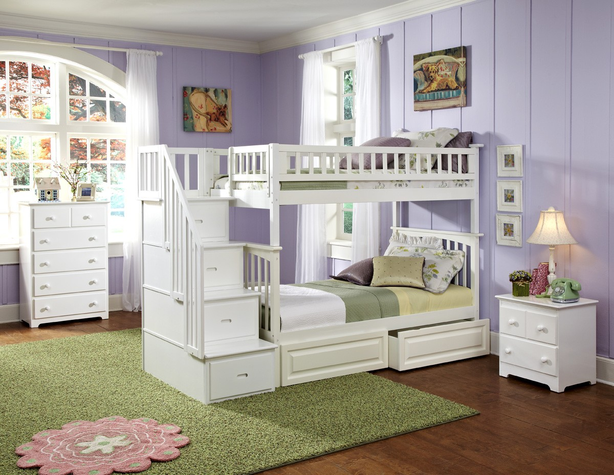 Image of: Beautiful Bunk Beds With Stairs