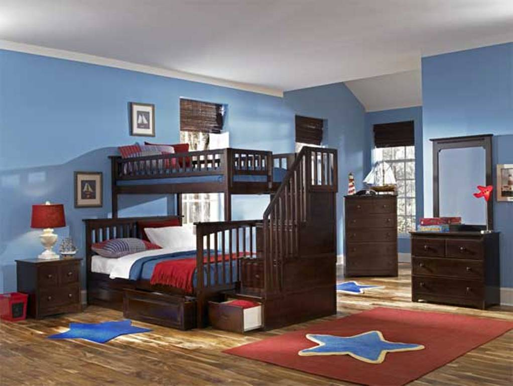 Image of: Boy Bunk Bed with Stairs
