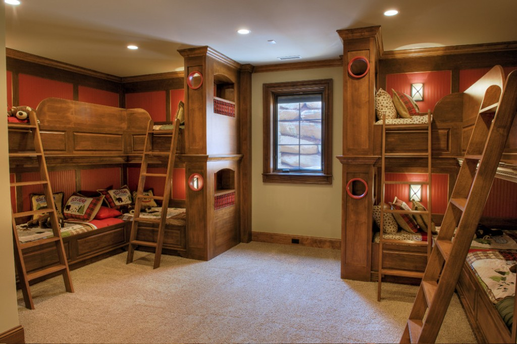 Image of: Built In Bunk Beds Building Plan