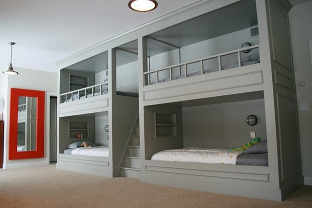 Image of: Built In Bunk Beds Ideas