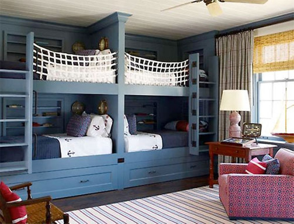 Image of: Built In Bunk Beds for Kids