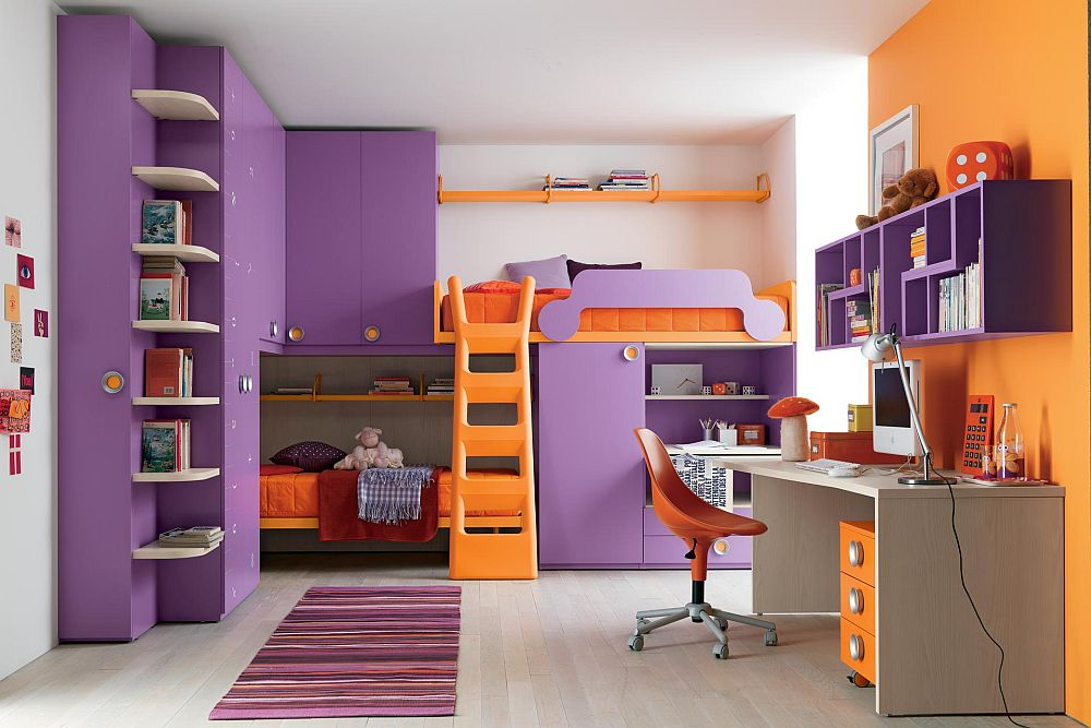 Image of: Bunk Beds With Stairs For Girls