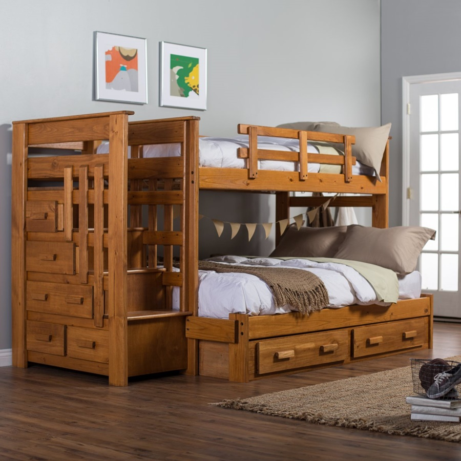 Image of: Bunk Beds With Stairs For Kids