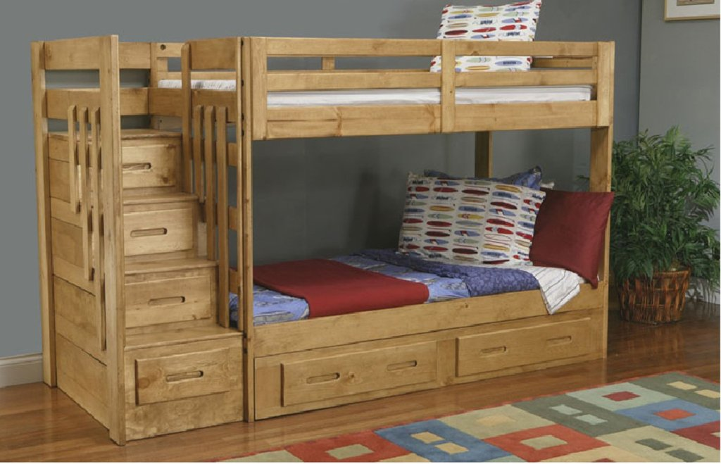 Image of: Bunk Beds for Kids with Stairs Girls