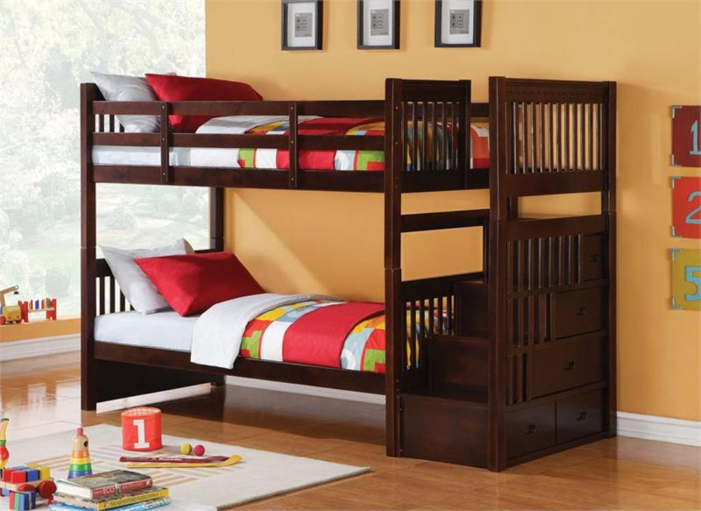 Image of: Bunk Beds for Kids with Stairs Kids