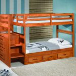 Bunk Beds for Kid with Stairs Twin Over Full
