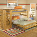 Bunk Beds for Kids with Stairs and Earthquake