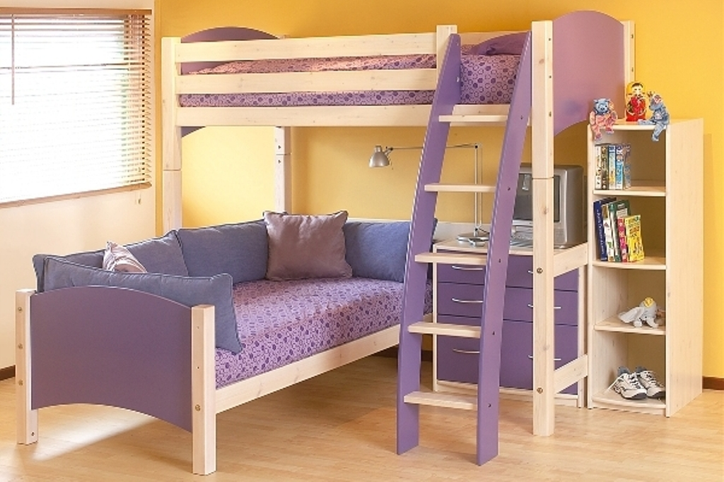 Image of: Bunk Beds for Kids with Stairs with Storage