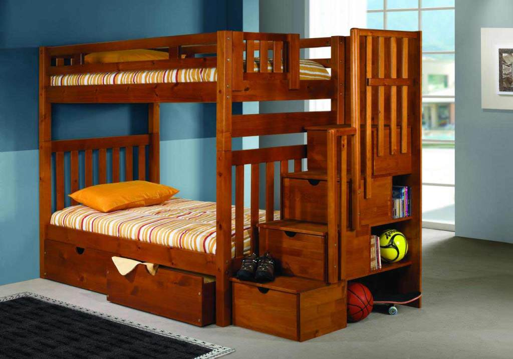 Image of: Bunk Beds with Drawers and Desk
