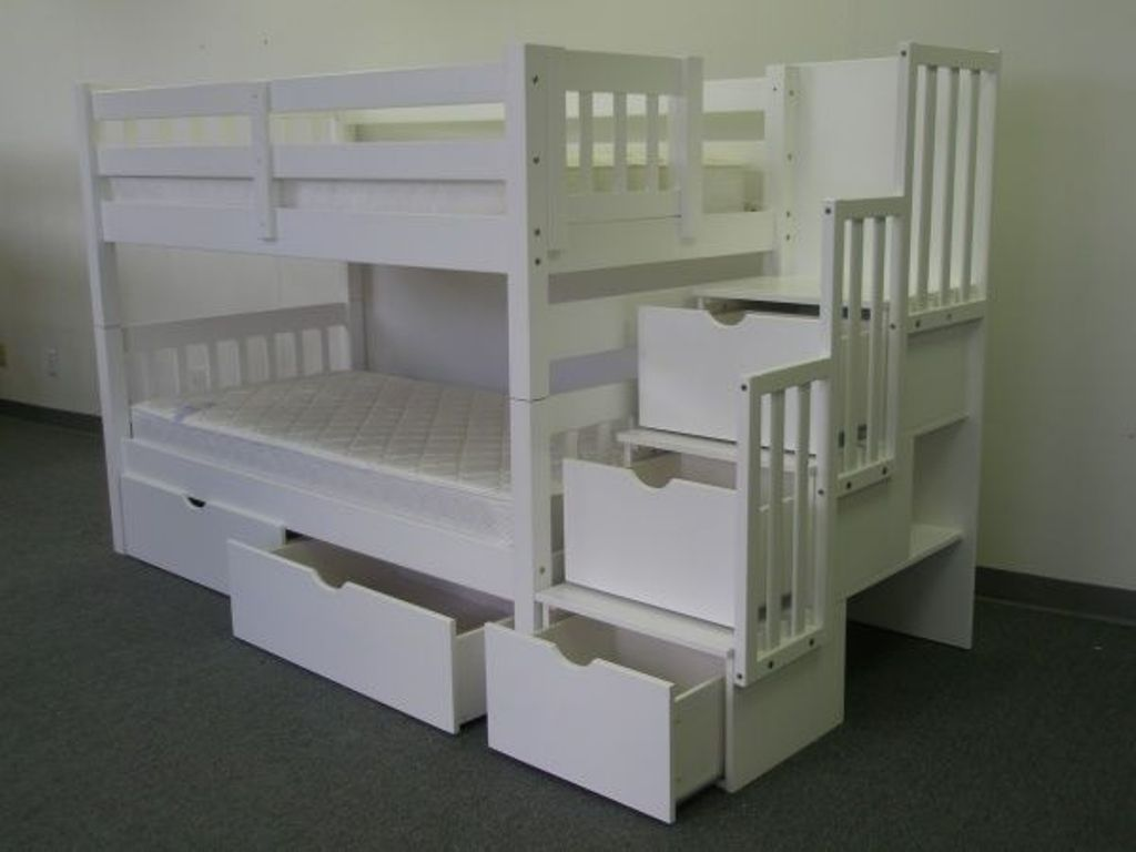 Image of: Bunk Beds with Drawers and Stairs