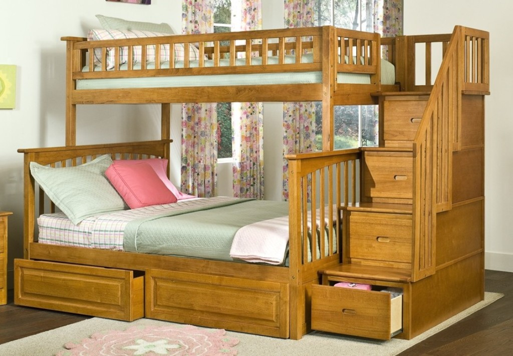 Image of: Bunk Beds with Drawers for Stairs