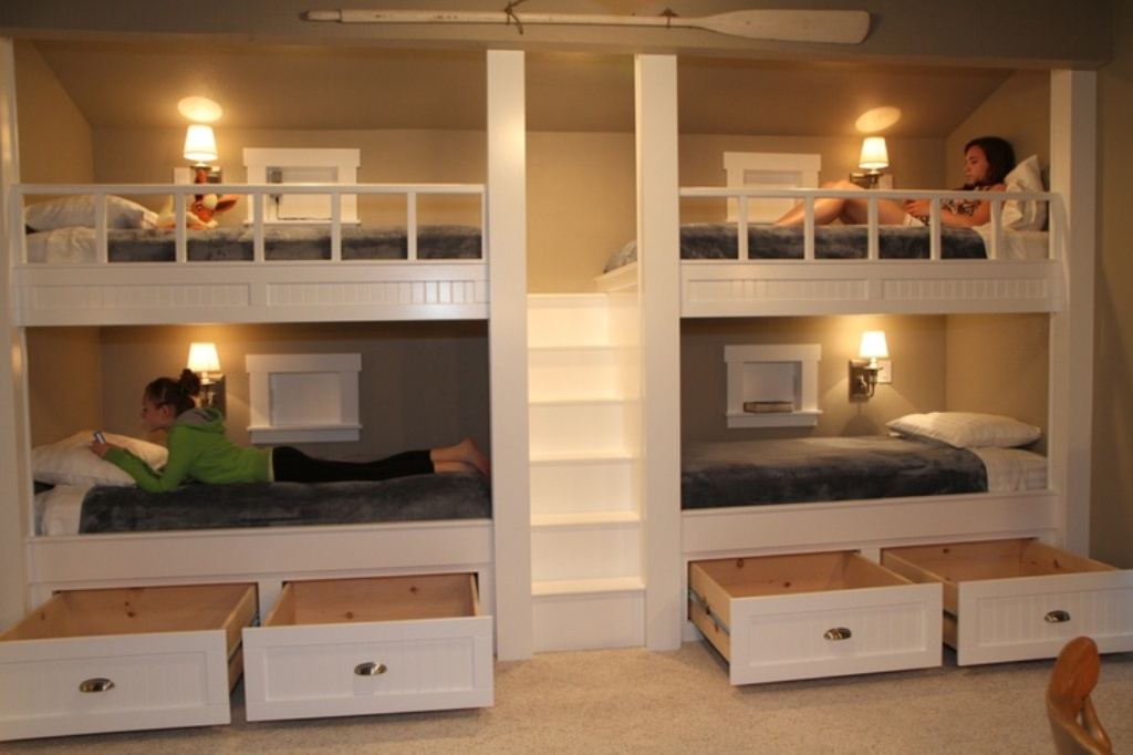 Image of: Bunk Beds with Drawers for Under Storages