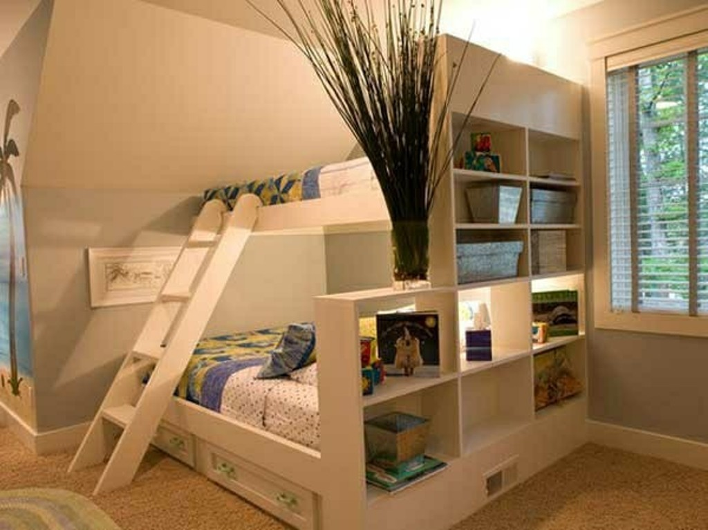 Image of: Bunk Beds with Drawers in Stairs