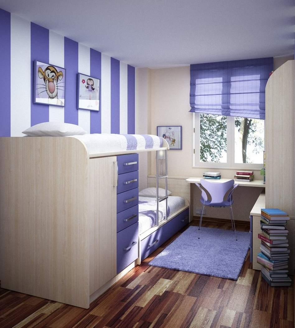 Image of: Cool Girls Loft Beds
