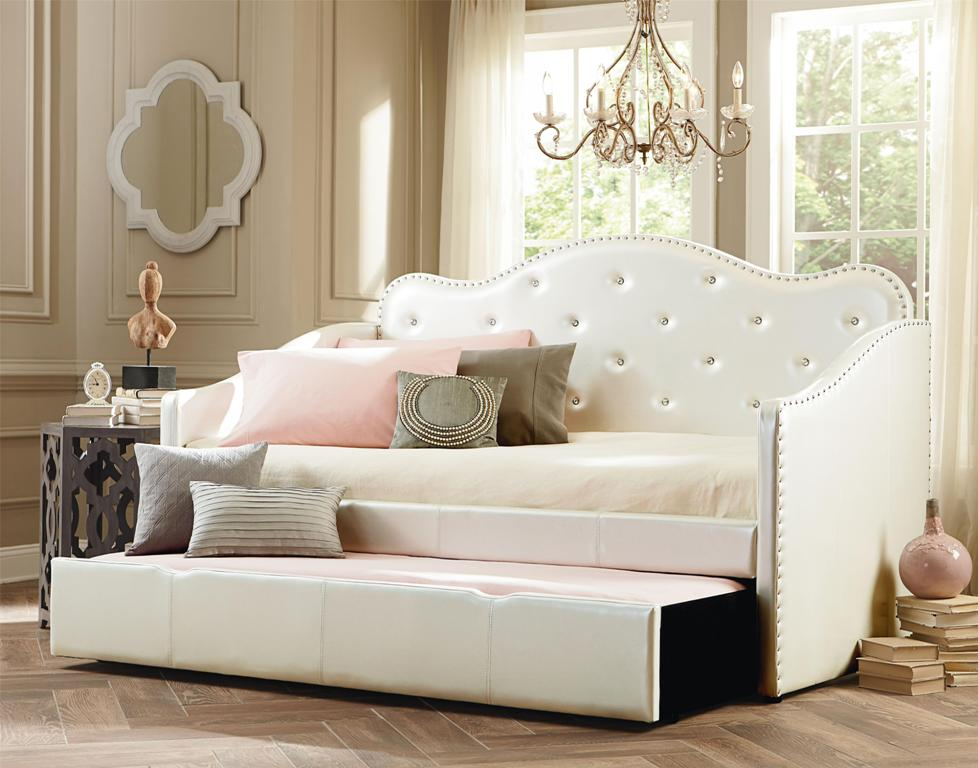 Image of: Extra Long Upholstered Twin Bed