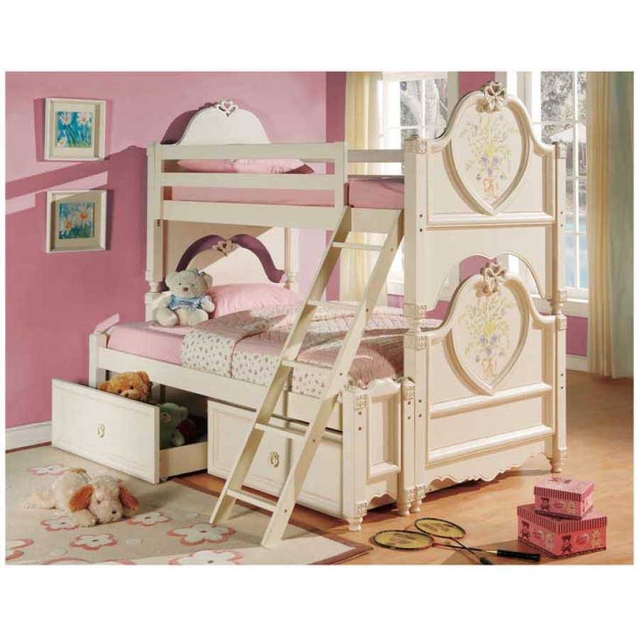 Image of: Girls Bunk Beds Ideas