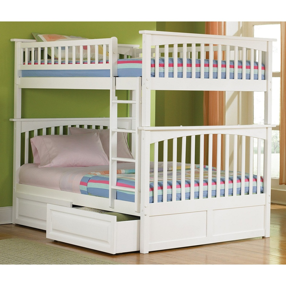 Image of: Girls Bunk Beds Rail