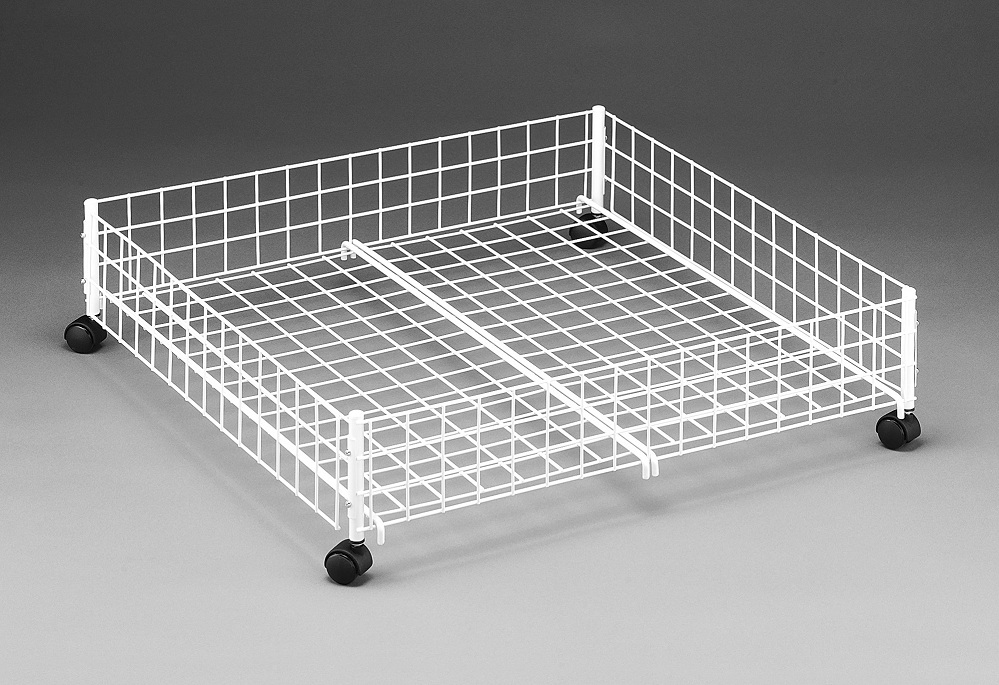 Image of: Iron Rolling Underbed Storage