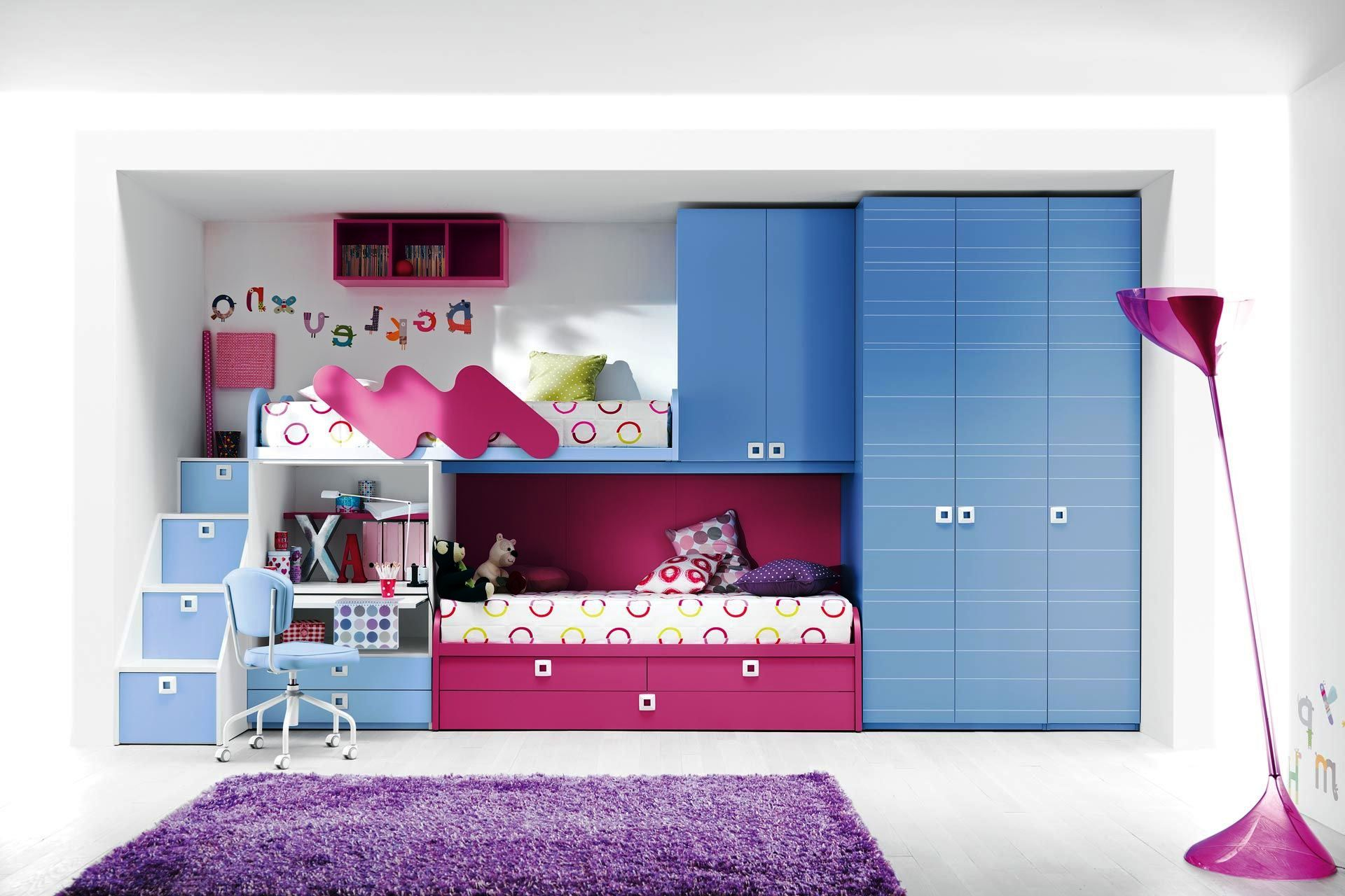 Image of: Loft Beds for Girls Paint