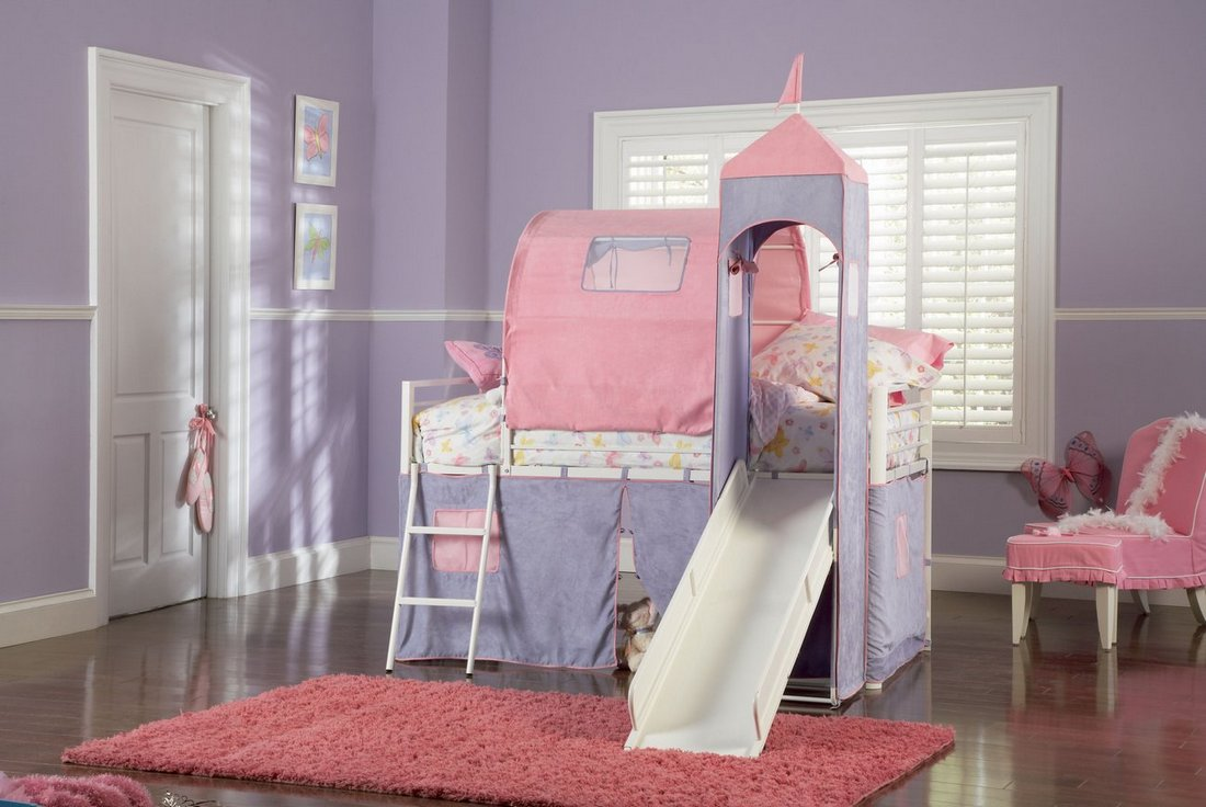 Image of: Loft Beds for Girls Theme