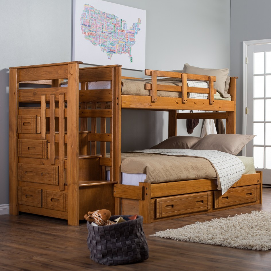Image of: Loft Bunk Bed Drawers