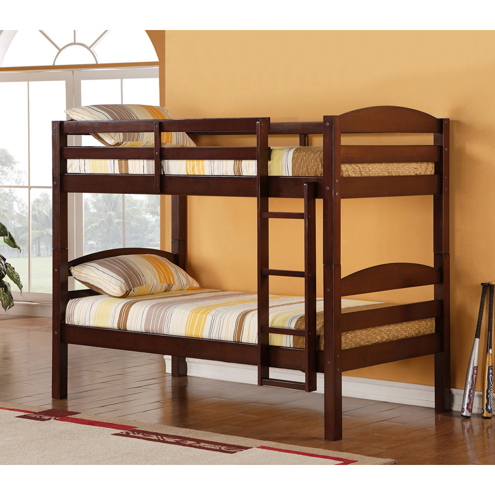 Image of: Loft Bunk Bed Twin