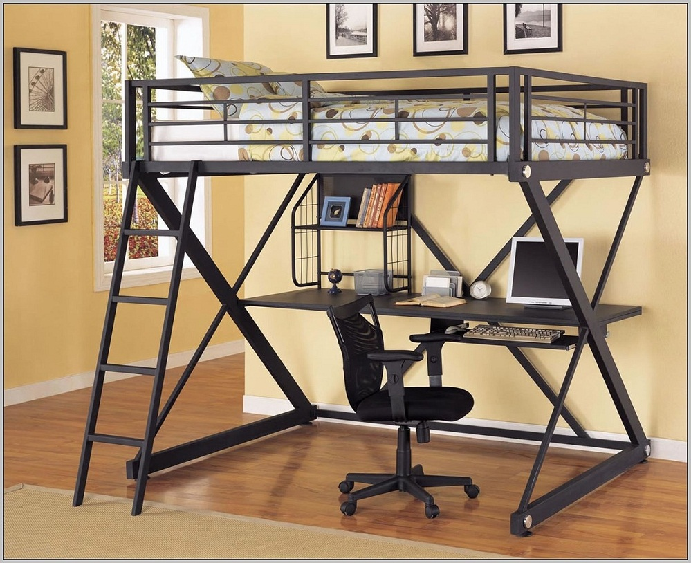Loft Bunk Bed and Desk