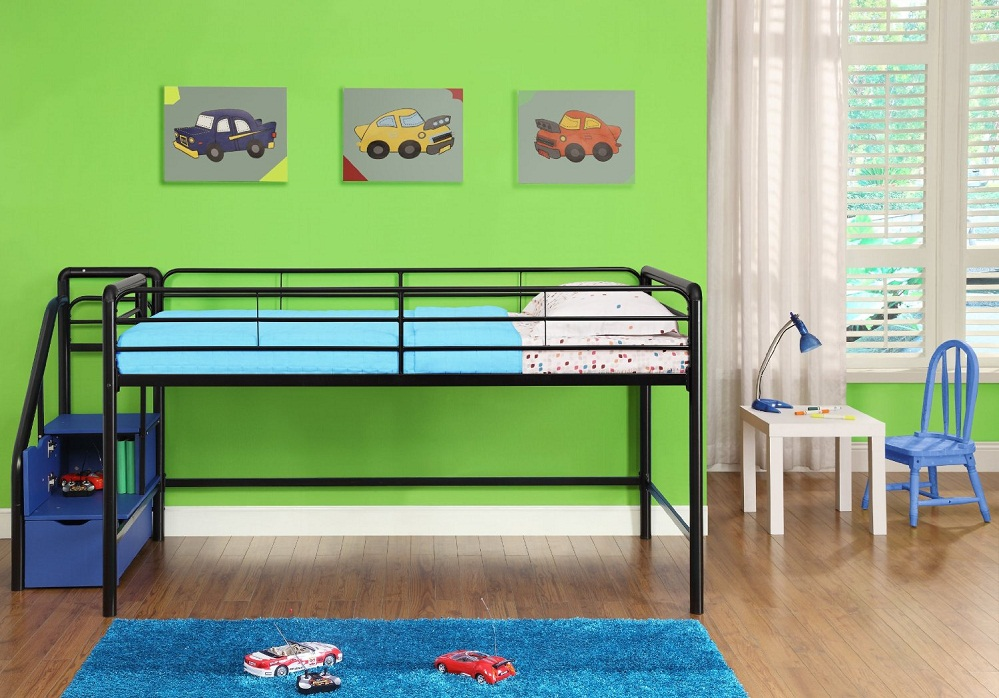 Image of: Low Height Bunk Beds Toddler