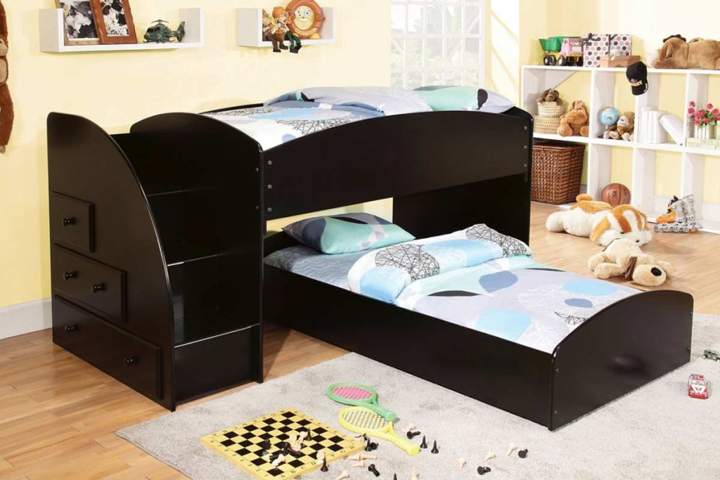 Image of: Modern Twin Bunk Beds with Stairs