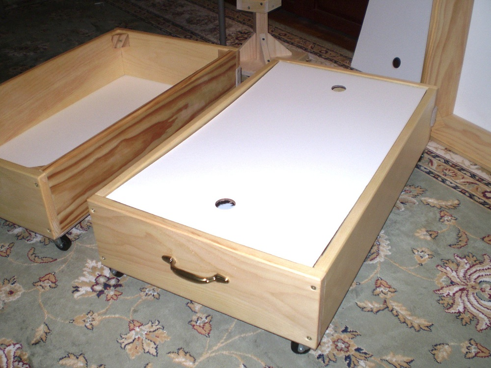 Image of: Natural Rolling Underbed Storage