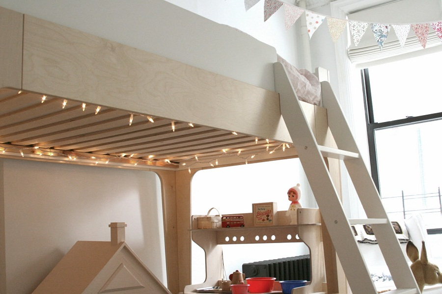 Image of: Oeuf Bunk Bed Decor
