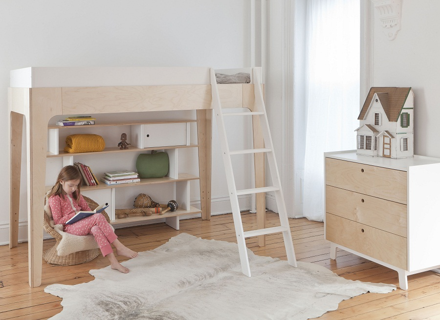Image of: Oeuf Bunk Bed Girls