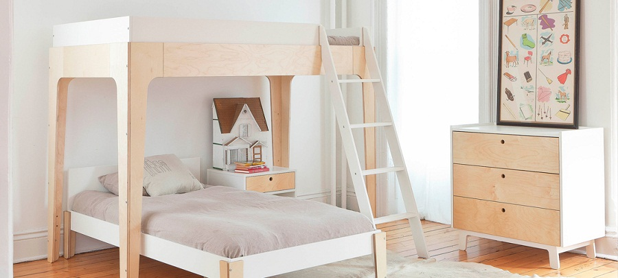 Image of: Oeuf Bunk Bed L Shapes