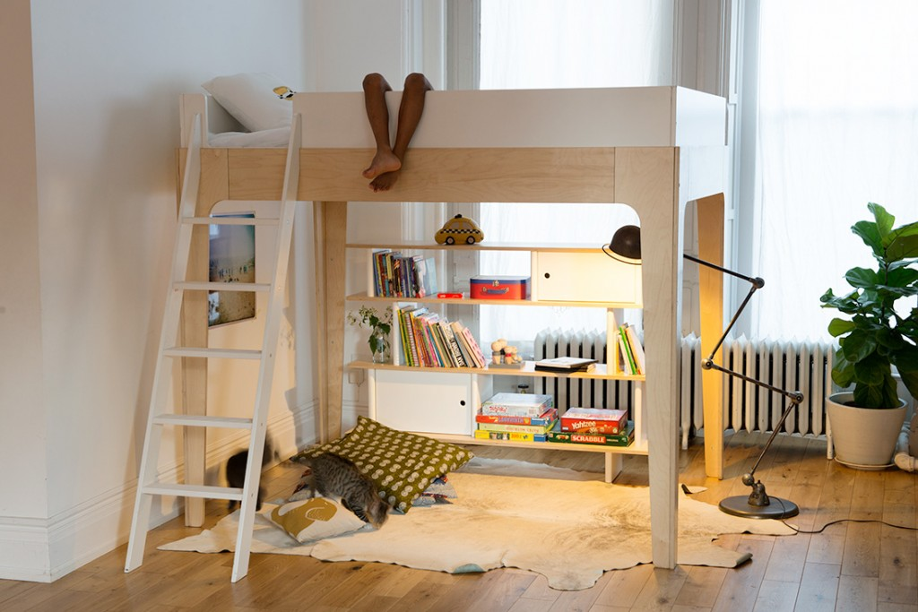 Image of: Oeuf Bunk Bed Storage