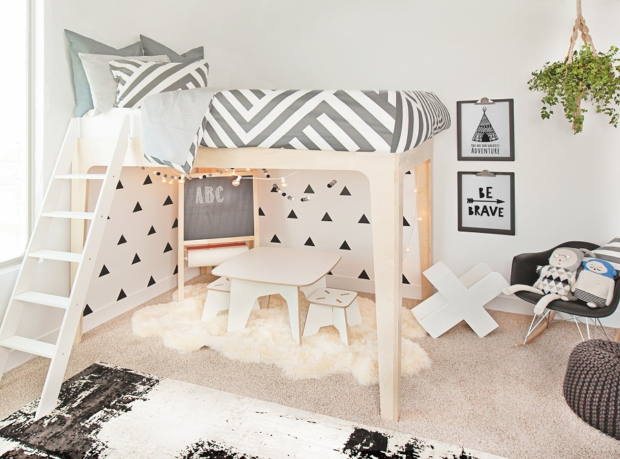 Image of: Oeuf Bunk Bed Twin