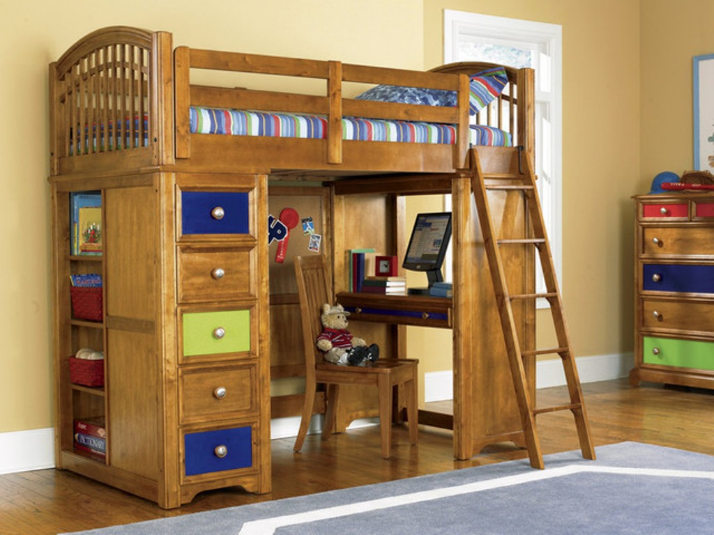 Image of: Perfect Kids Loft Beds With Desk