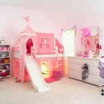 Pink Childrens Loft Beds