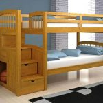 Simple Twin Bunk Beds with Stairs