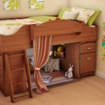 Solid Wood Bunk Beds with Stairs and Drawers