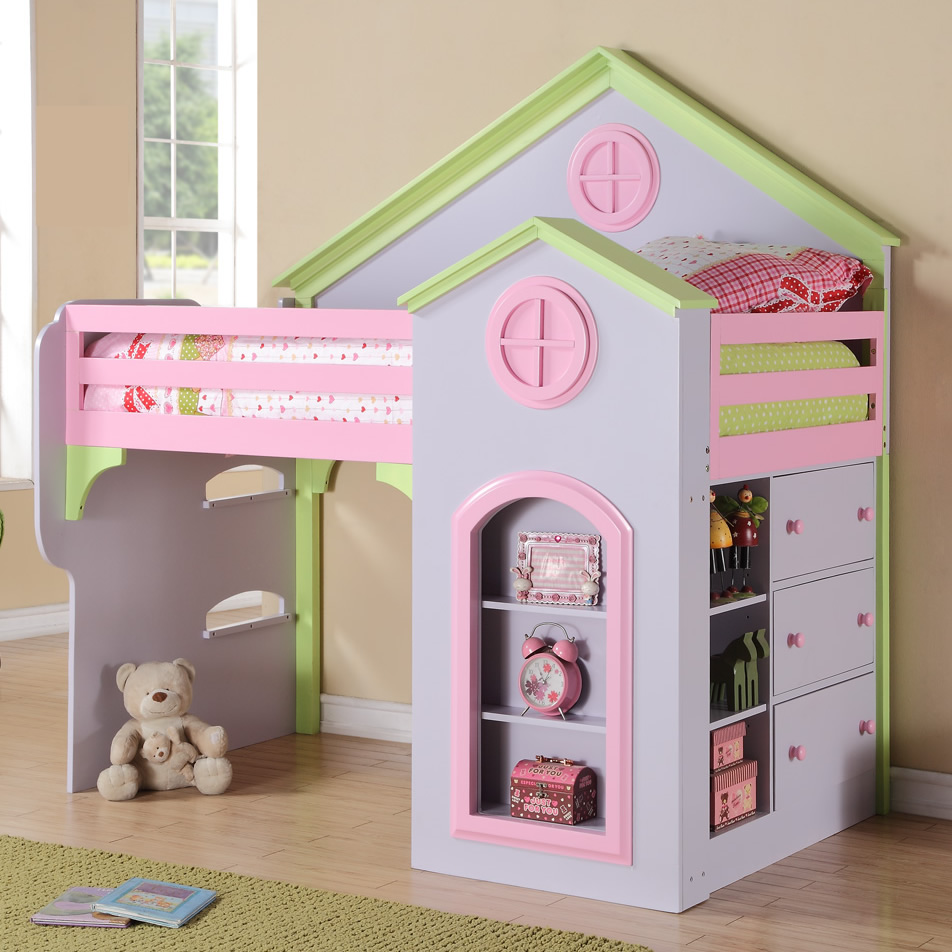 Image of: Themed Loft Beds for Girls