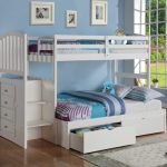 Twin Bunk Beds with Stairs Design