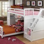 Twin Bunk Beds with Stairs for Girls