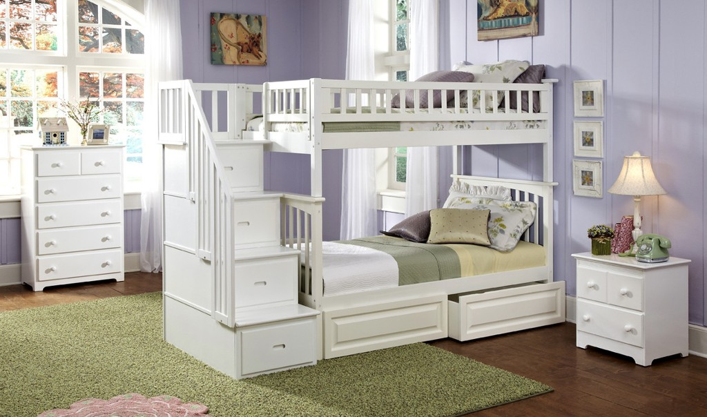 Image of: Twin Bunk Beds with Stair