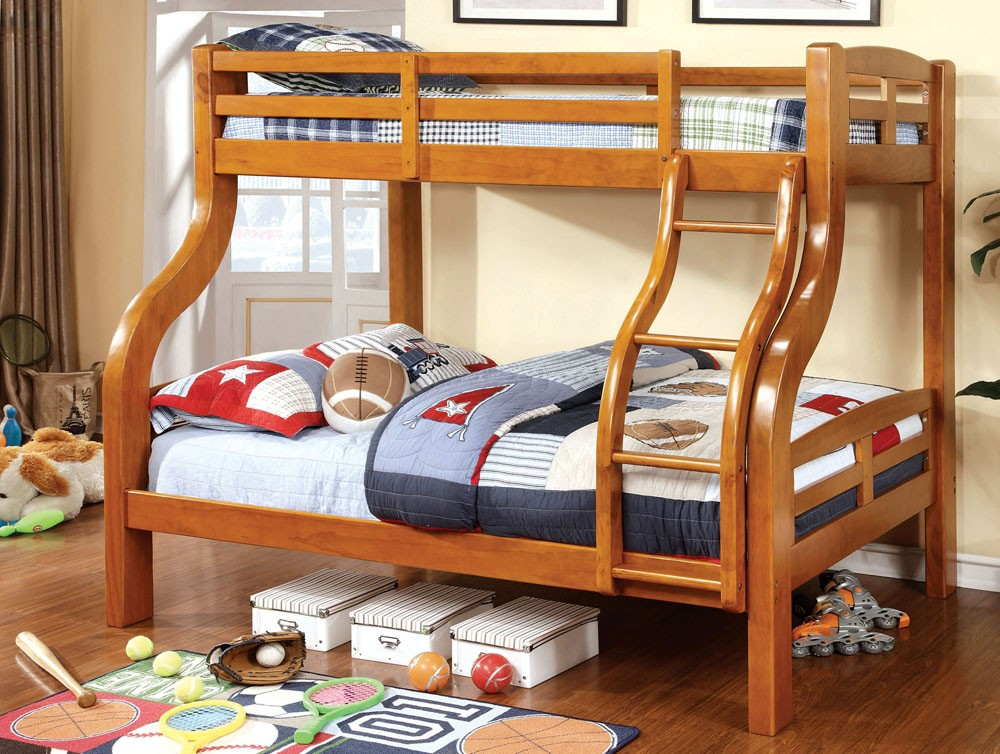 Image of: Twin Over Full Bunk Bed Bedroom Set